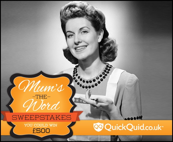 Mother's Day is quickly approaching and we're celebrating by offering our followers a chance to win 500 GBP!  Click here to fill out our entry form and visit our Mum's the Word board to repin some of your favourite Mum content: http://quickquid.co.uk/mums-the-word