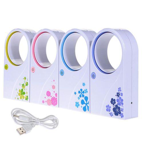 $6.79    Portable-Mini-Fans-No-Leaf-Fan-Bladeless-Refrigeration-Desktop-Air-Conditioner