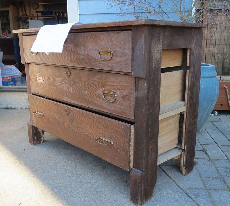 Upcycled Blue Chest Of Drawers