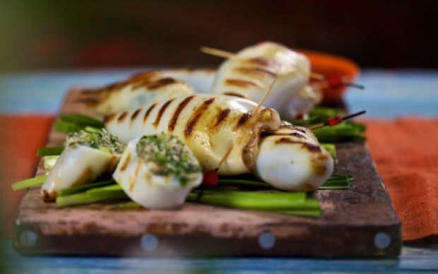 Stuffed Squid Recipe by Reza Mahammad : Food Network UK