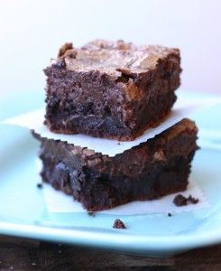 Nutella Cheesecake Brownies.  Bottom brownie layer is full of rich, chocolate flavor with the tinsiest hint of nutella, and then topped with glorious cheesecakey layer made deep and dark with a fat spoonful of nutella.