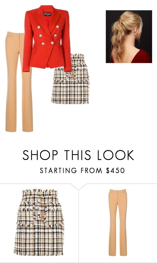 spring.1 by valentina-badeanu on Polyvore featuring Balmain, MSGM and Capelli New York