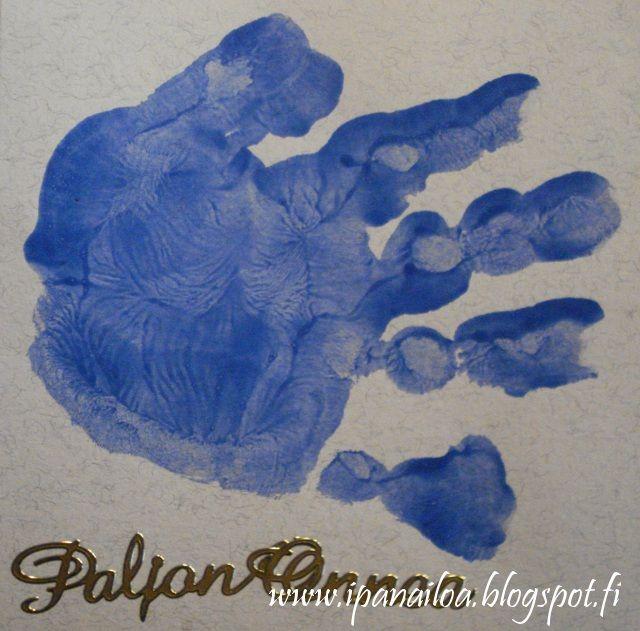 askartelua: isänpäivä, äitienpäivä, kortti, kädenjälki http://ipanaaskartelua.blogspot.fi/2011/11/kortti-isalle-tai-aidille.html