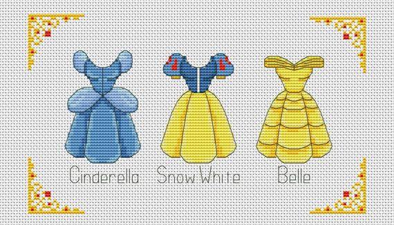 Disney cross stitch pattern Disney princess dress by AvroraCS