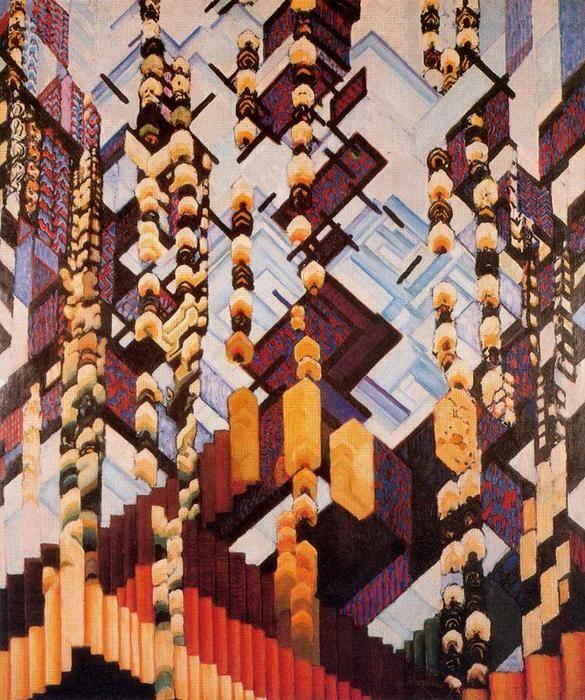 De couleur `drawings` . Je me souviens winter de Frantisek Kupka (1871-1957, Czech Republic)