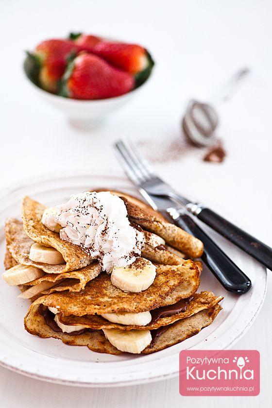 #Nalesniki razowe z #banan.em i #nutella  http://pozytywnakuchnia.pl/nalesniki-z-bananem-i-nutella/  Pyszne #sniadanie lub #deser  #przepis #kuchnia