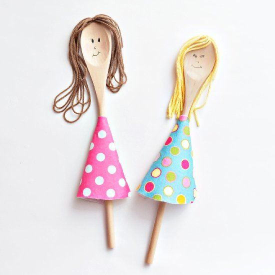 96 best spoon doll images on pinterest wooden spoon for Wooden spoons for crafts