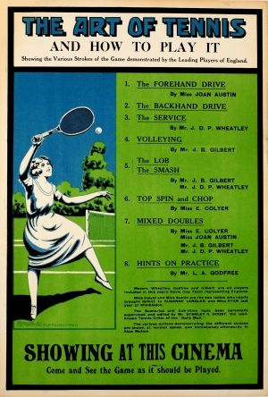 The Art Of Tennis And How To Play It 1920s - original vintage poster listed on AntikBar.co.uk #PlayTennisDay
