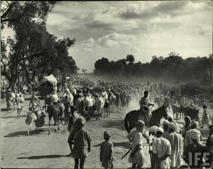 Mass migration during independence of India and Pakistan in 1947