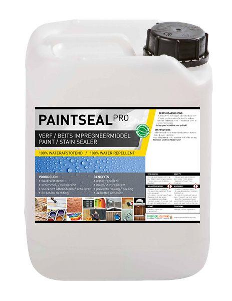 Paintseal maakt verf en beits 100% waterafstotend en schimmelwerend. Paintseal simpelweg toevoegen aan elke verf of beits op waterbasis. NIEUW