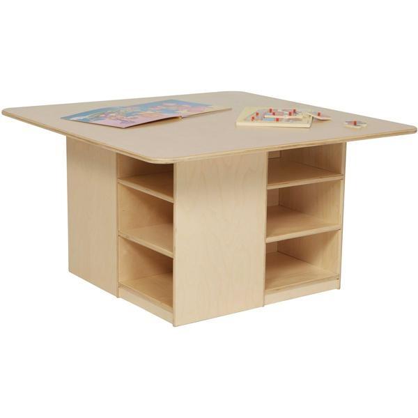 "Preschool Cubby Table - 12 Compartments - 20""H x 36""W x 36""D"