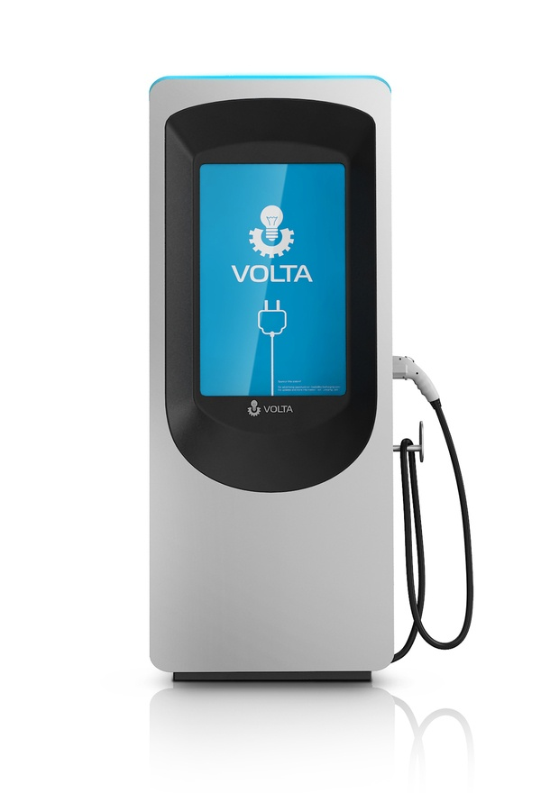 EV Charging Station - Volta by Raul Gonzalez Podesta, via Behance