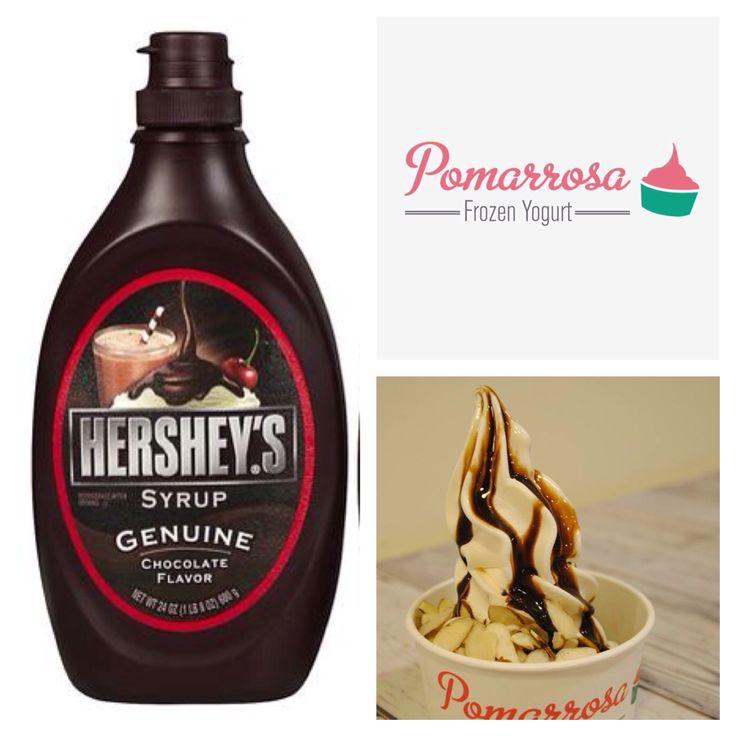Sí te encanta el chocolate ven a Pomarrosa y pide salsa de Hershey's. ¡Que rico! #pomarrosafrozenyogurt #pomarrosa #elplacerdecomersano #hersheys