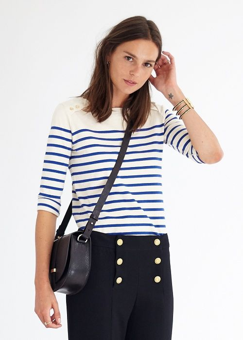 Pantalon France / Marinière - Lookbook Automne Hiver - www.sezane.com  #sezane #pantalon #france #mariniere #lookbook