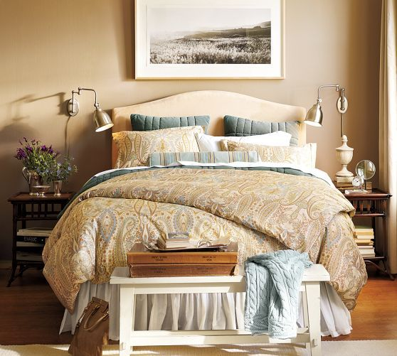 blythe paisley organic sateen duvet cover sham neutral pottery barn master bedroom ideas. Black Bedroom Furniture Sets. Home Design Ideas