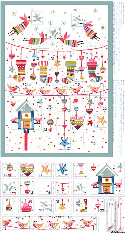 "Sophie - Winter Angels Advent Calendar - 24"" x 44"" PANEL"