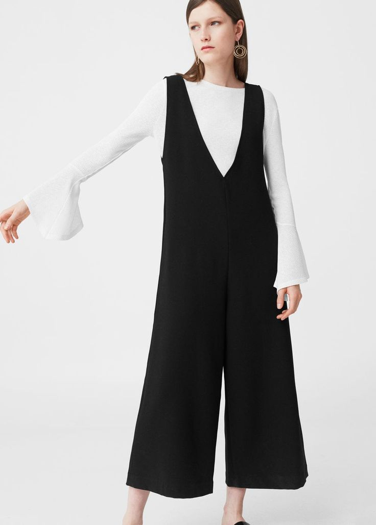 Flowy crepe jumpsuit -  Woman | MANGO Lithuania