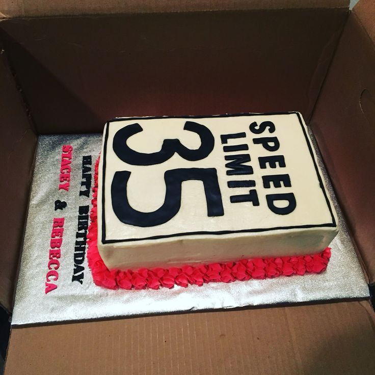 35th birthday cake hbday pinte