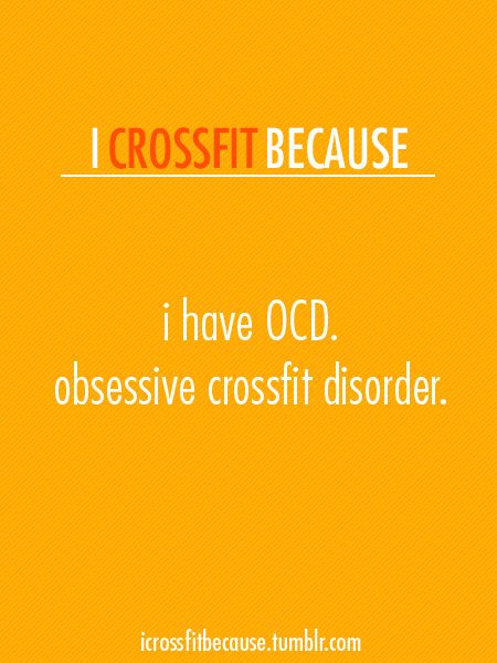 i crossfit because