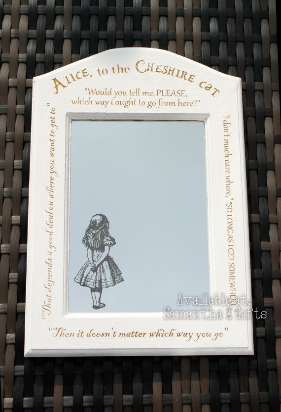 Alice in Wonderland Engraved Mirror in Engraved by SamanthaKGifts