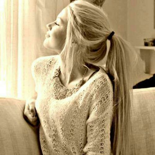 I wish I could have a ponytail like this. För mer frisyrer kolla in http://www.frilla.se