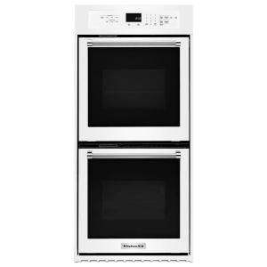 KitchenAid 24 in. Double Electric Wall Oven Self-Cleaning with Convection in White KODC304EWH at The Home Depot - Mobile