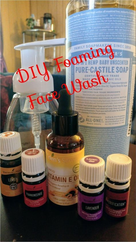 """Are you at the """"anti-aging"""" age? Personally, being in my mid-40s, skin health is my main concern. I took my recipe for Thieves Foaming Hand Wash and tweaked it to make a foaming face cleanser. The results are amazing! #youngliving #essentialoils #diy #facewash #foamingfacewash #foamingwash #cleanser #facecleanser #foamingfacecleanser #foamingcleanser #foamingwash #drbronners #castilesoap #witchhazel #neutrogena #frankincense #teatree #purification #lemon #lavender #amazon"""