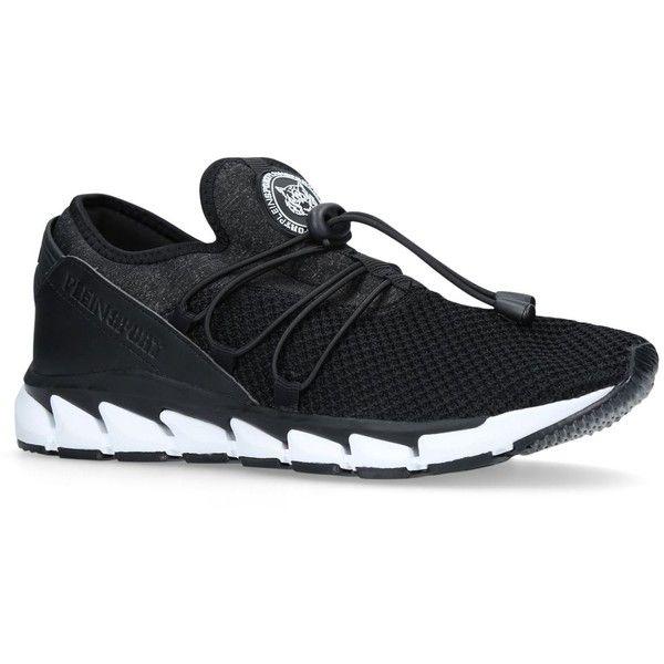 Philipp Plein Ninja Toggle Runner Sneakers ($375) ❤ liked on Polyvore featuring shoes, sneakers, rubber sole sneakers, philipp plein sneakers, philipp plein shoes, philipp plein and logo shoes