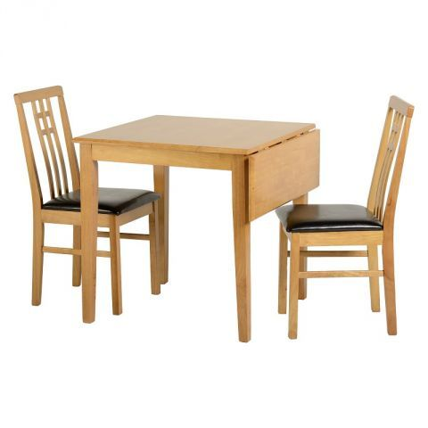 Vienna 77cm 100cm Drop Leaf Dining Table With 2 Chairs Next Day Delivery