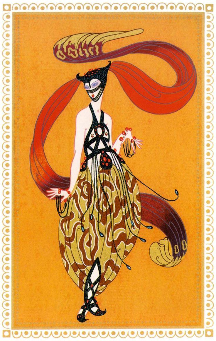 Erté - Erte - RT - Romain de Tirtoff - Illustration - Sheerezade 7 - Art Deco