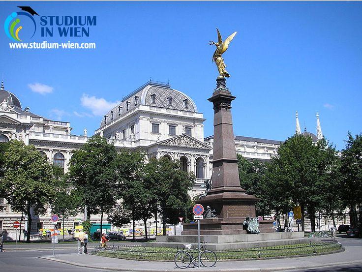 Главный корпус университета расположен в живописной исторической части Вены – на улице Рингштрассе. Здесь размещается администрация, ректорат и знаменитое достояние вуза – огромная библиотека.