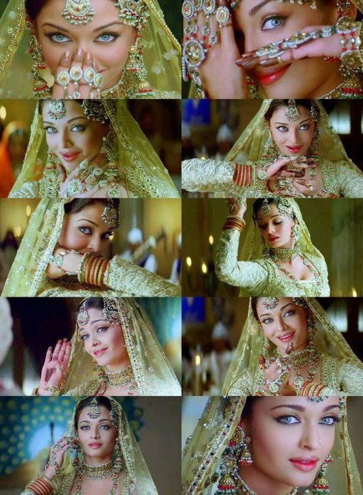 """She is Bollywood Beauty & Miss World 1994 , Aishwarya Rai , the pic is from her 2006 Historical Movie """"Umrao Jaan"""" in an """"Anarkali Apparel""""."""