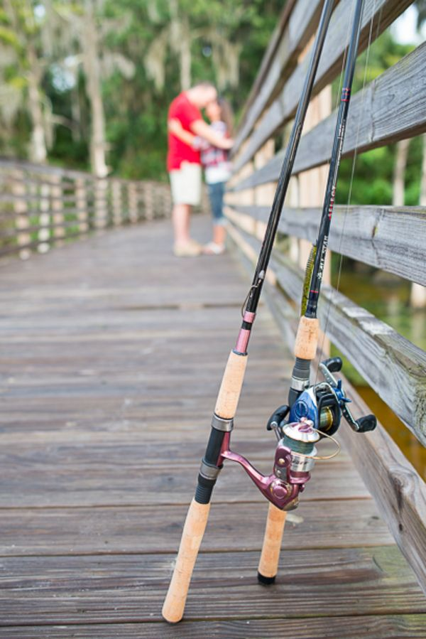Picnic & Fishing Playful Engagement Shoot