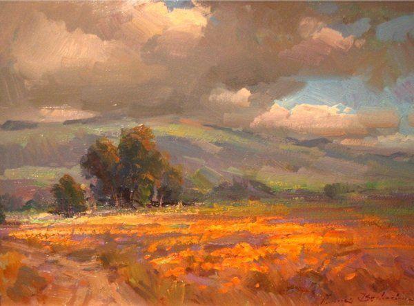 California Poppy Fields by artist Ovanes Berberian