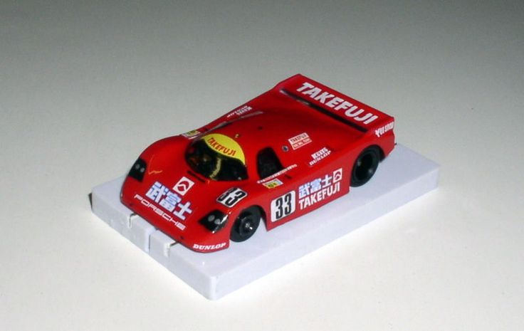 Takefuji Porsche 962C lexan body Ready-2-Race for BSRT, Viper HO slot cars, this body is part of my personal collection.