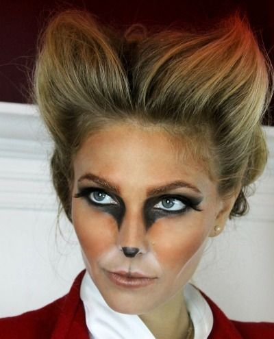 Halloween make up, Fox make up, DIY animal costumes (also, try just eyes)