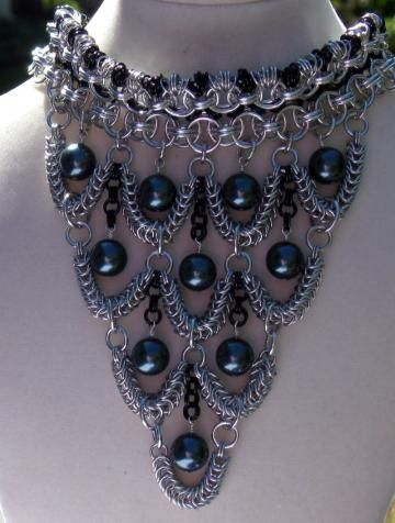 Edwardian Splendor Chainmail Adjustable Choker by XquisitelyLadyM for $350.00
