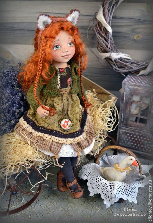 Коллекционные куклы ручной работы. Лизавета, текстильная кукла. Елена…