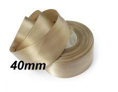(1m) Panglica saten beige inchis 40mm cod P03