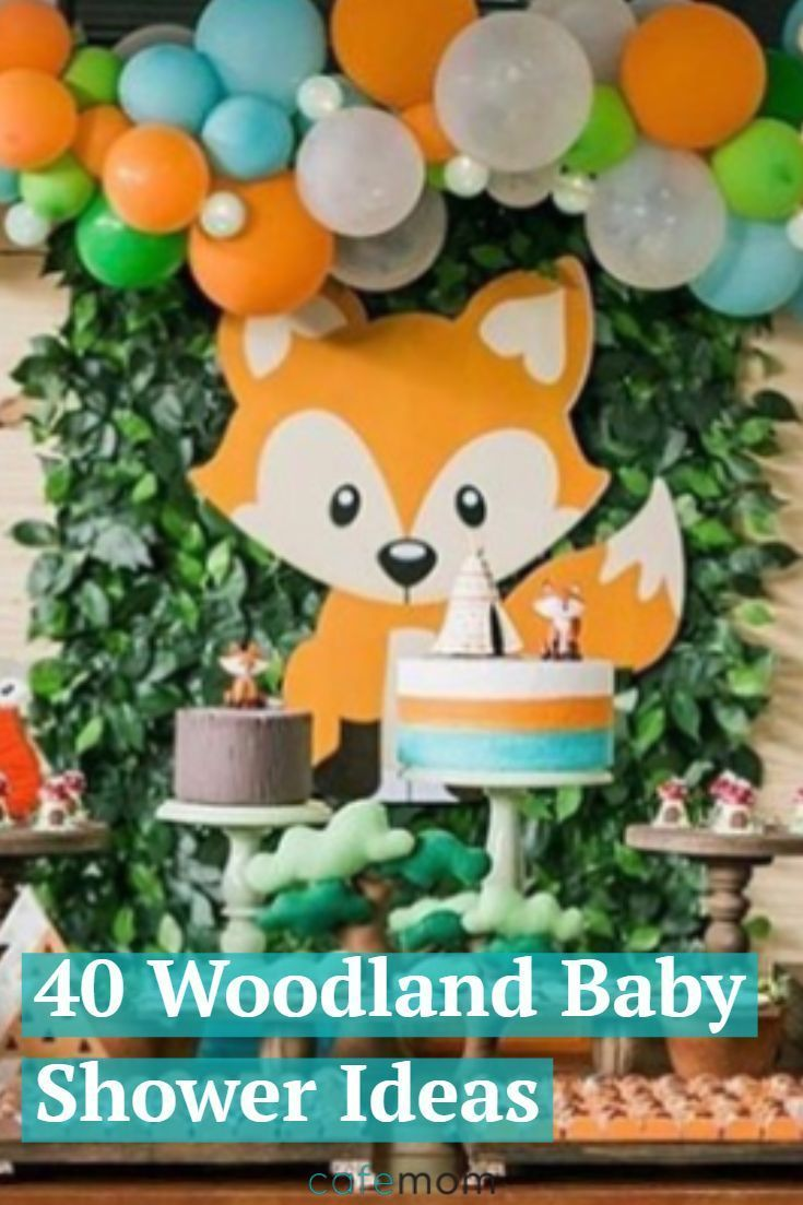 These woodland baby shower ideas — including deco…