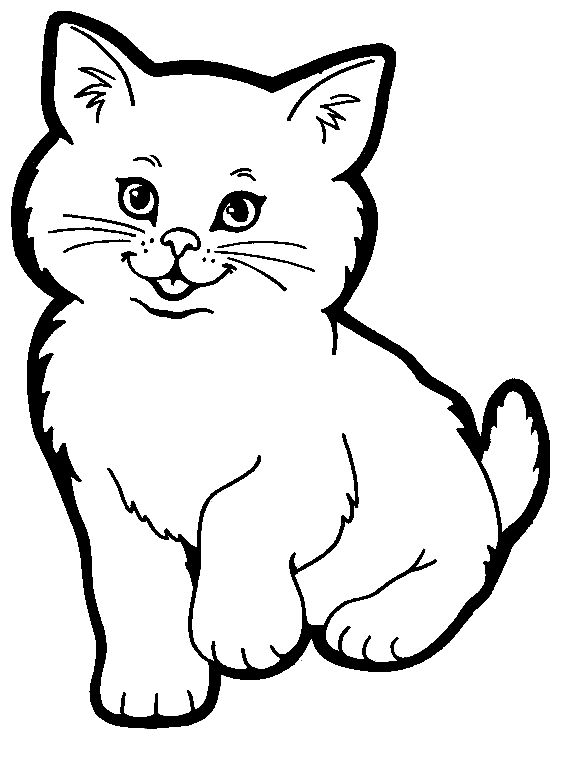 cat coloring pages here is a small collection of cute cat coloring pages for kids - Cute Coloring Pics