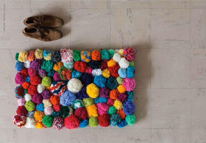 DIY | Crazy Pom Pom Rug by @Pip Lincolne for @Frankie Magazine - Photo by Hilary Walker