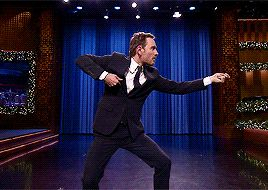 """fassysource: """"Air Guitar Battle with Michael Fassbender """""""