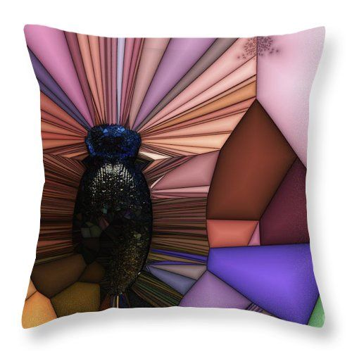 """Sarcophagus Throw Pillow by Sverre Andreas Fekjan.  Our throw pillows are made from 100% spun polyester poplin fabric and add a stylish statement to any room.  Pillows are available in sizes from 14"""" x 14"""" up to 26"""" x 26"""".  Each pillow is printed on both sides (same image) and includes a concealed zipper and removable insert (if selected) for easy cleaning."""