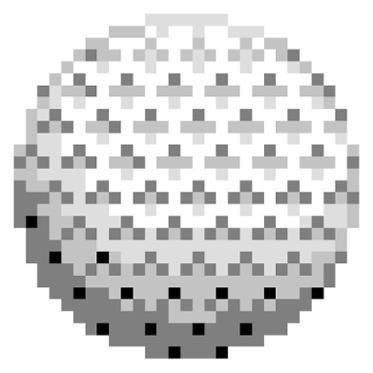 Pixel Quilt Top Pattern - Golf Ball