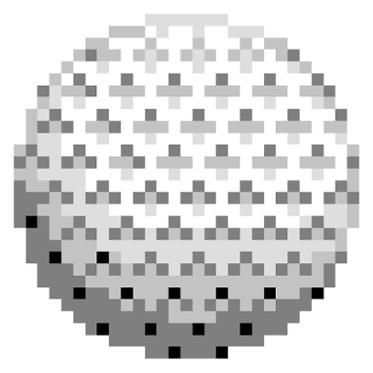 Pixel Quilt Top Pattern - Golf Ball