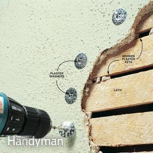<p>Repair sagging, cracking plaster walls and avoid the mess of demolition. With plaster washers and wide fiberglass mesh, old plaster walls can be made smooth and solid again.</p>