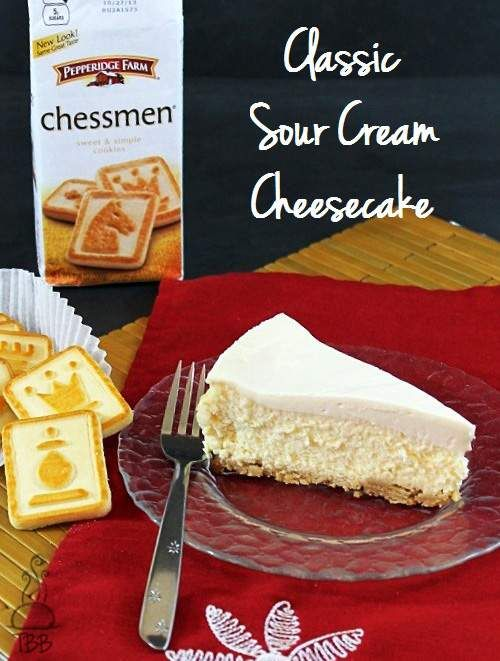 Classic Sour Cream Cheesecake.  They say you can substitute an equal amount of Greek  yogurt for sour cream and for cream cheese...so does that mean I could make this virtually fat free?