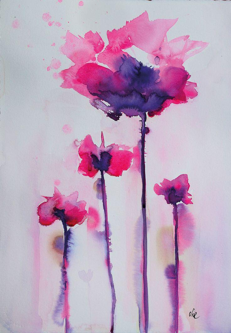 Aquarelle fleur exotic 3