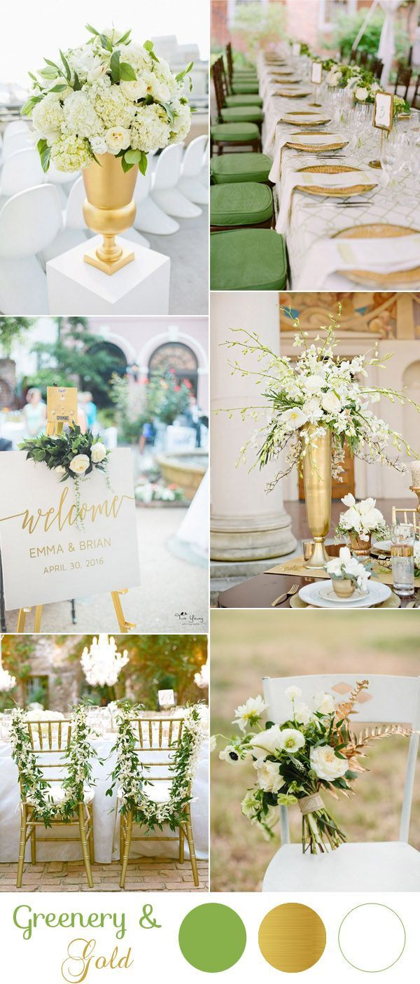 modern gold and greenery wedding inspiration for 2017